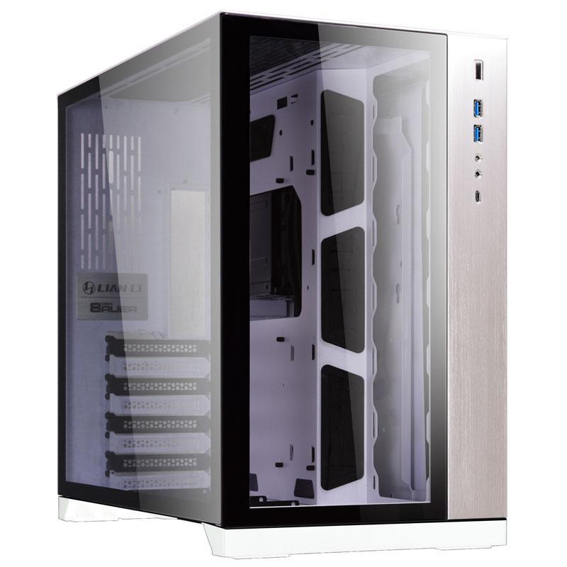 Кутия Lian Li PC-O11 Dynamic Mid-Tower, Tempered Glass, Бяло