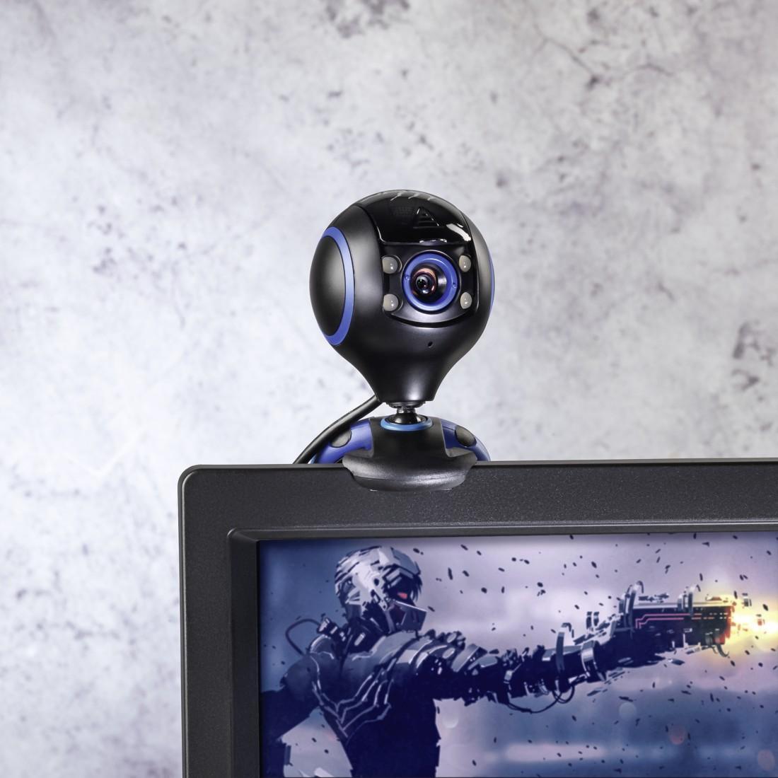 Уеб камера HAMA uRage Webcam HD Essential, HD, микрофон, Черна-2