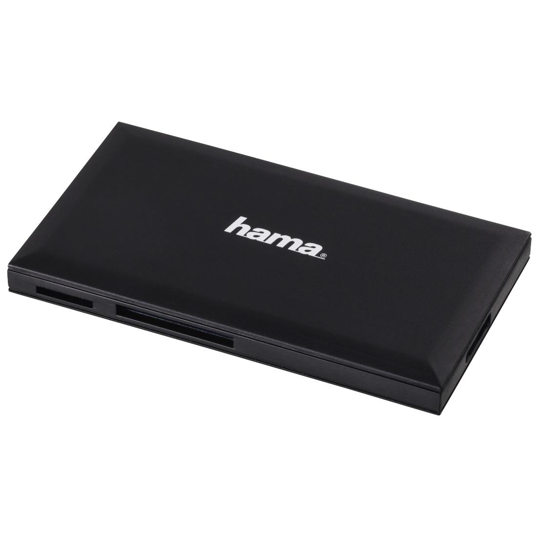 Четец за карти HAMA Multi-Card Reader, USB 3.0, SD/microSD/CF/MS, 5 Gbps, Черен