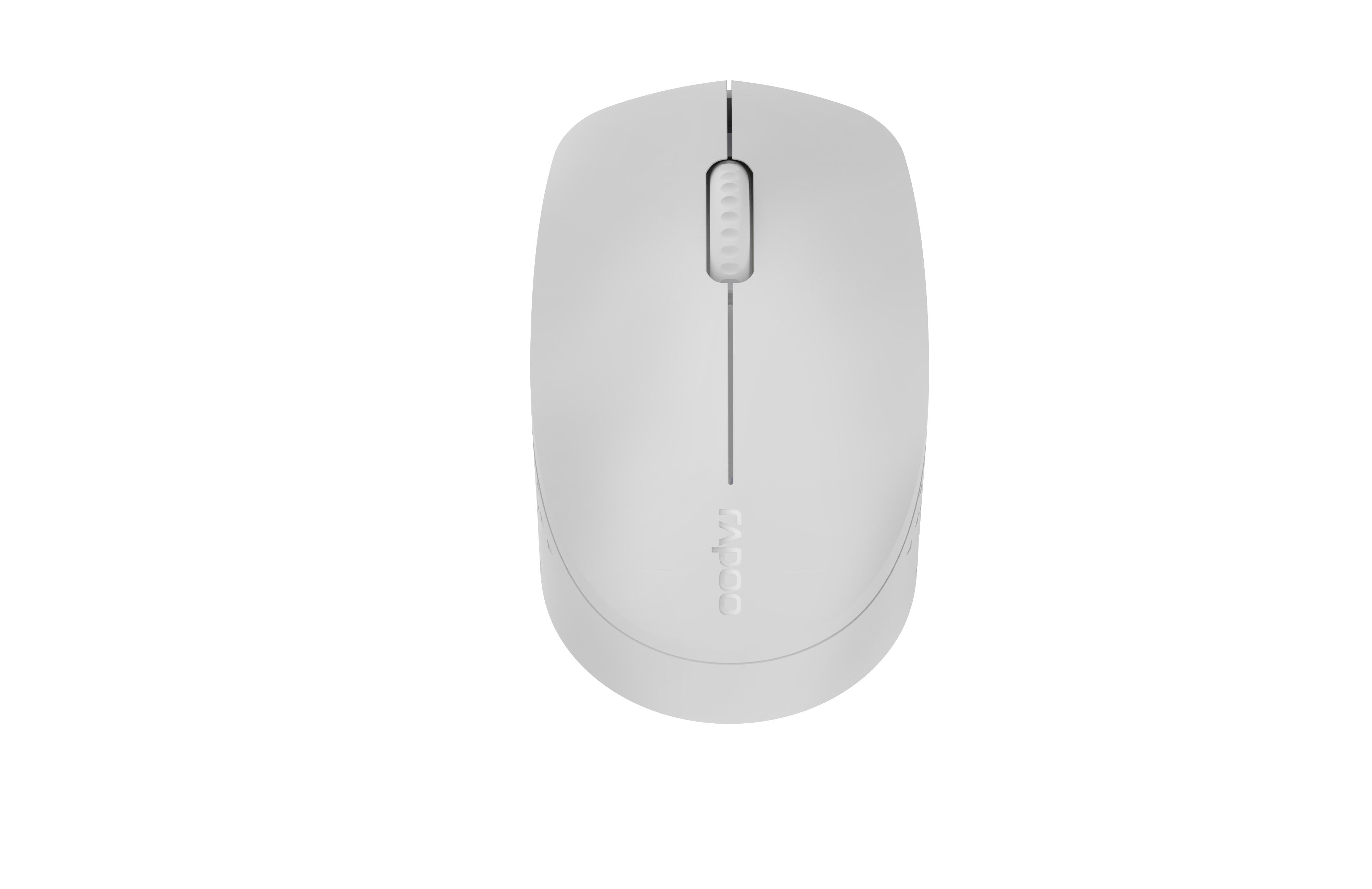 Безжична оптична мишка RAPOO M100 Silent, Multi-mode, безшумна, Светло сива
