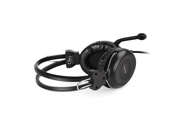 Слушалки A4TECH HU-30, Стерео, USB, Черни-4