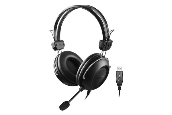 Слушалки A4TECH HU-35, Стерео, USB, Черни