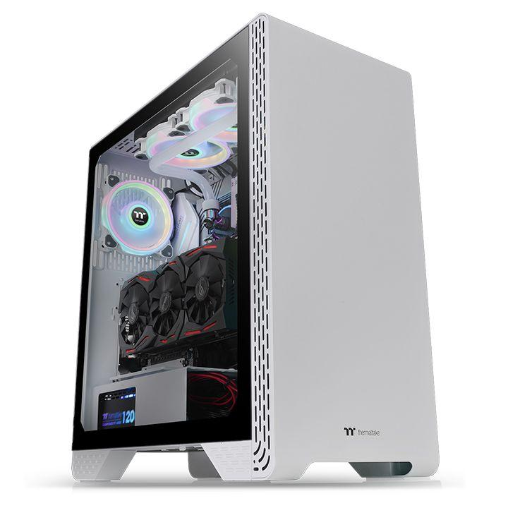 Кутия Thermaltake S300 TG Snow ATX Mid Tower