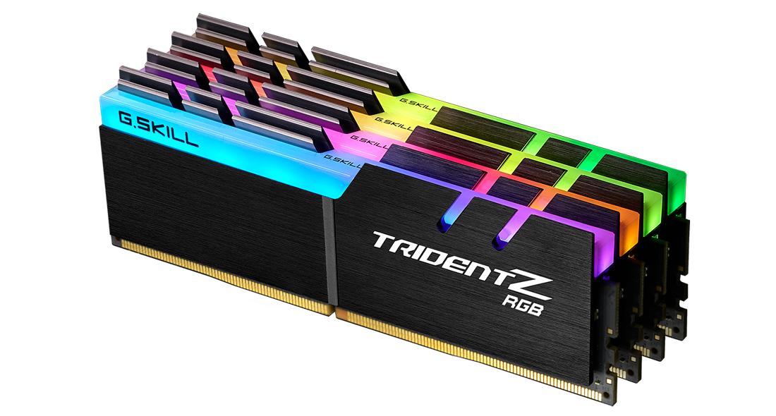 Памет G.SKILL Trident Z RGB 32GB(4x8GB) DDR4 PC4-28800 3600MHz CL16 F4-3600C16Q-32GTZR-2
