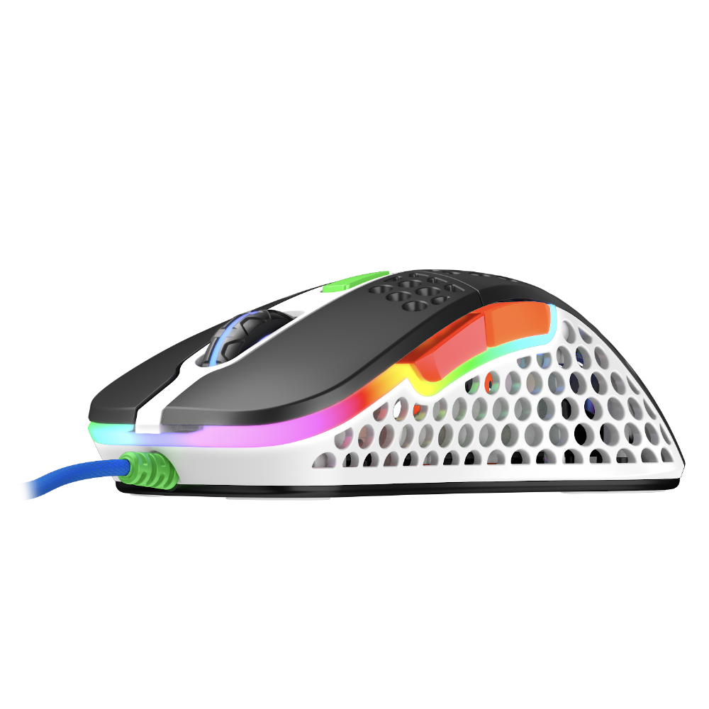 Геймърска мишка Xtrfy M4 Street, RGB, Бял