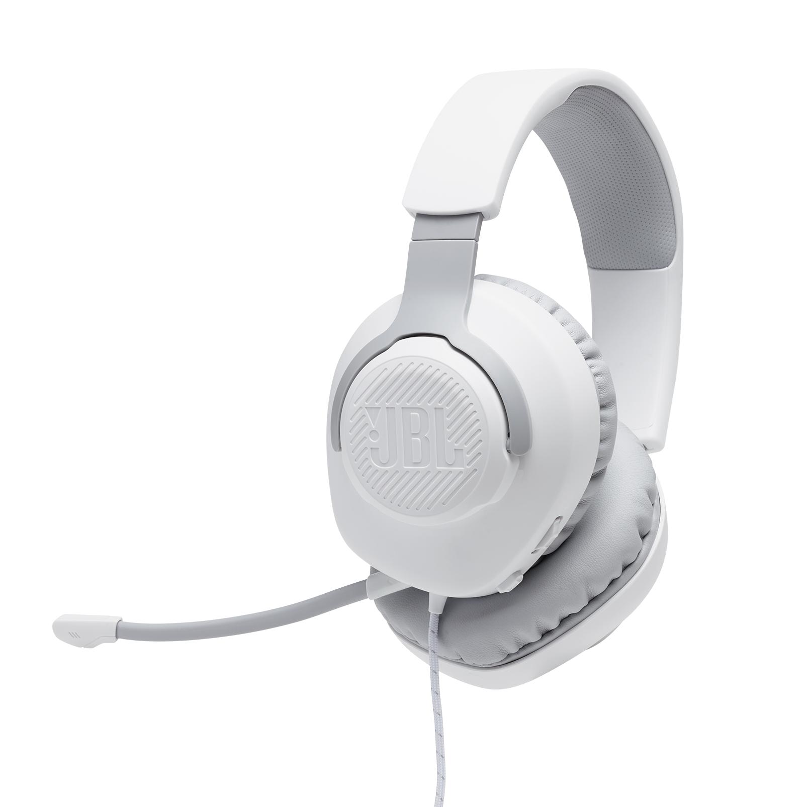 Геймърски слушалки JBL Quantum 100 White-2