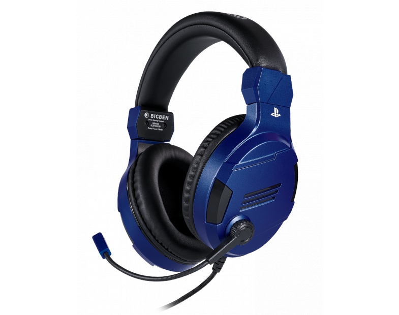 Геймърски слушалки Nacon Bigben PS4 Official Headset V3 Blue, Микрофон, Син