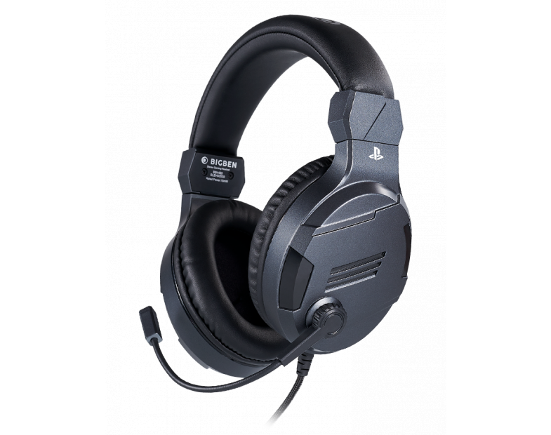 Геймърски слушалки Nacon Bigben PS4 Official Headset V3 Titanium, Микрофон, Сив