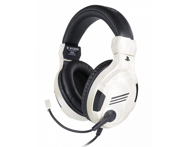 Геймърски слушалки Nacon Bigben PS4 Official Headset V3 White, Микрофон, Бял
