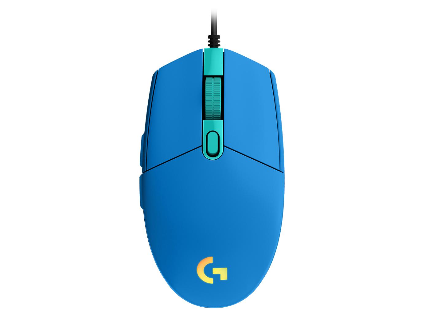 Геймърска мишка Logitech G102 LightSync, RGB, Оптична, Жична, USB, Син