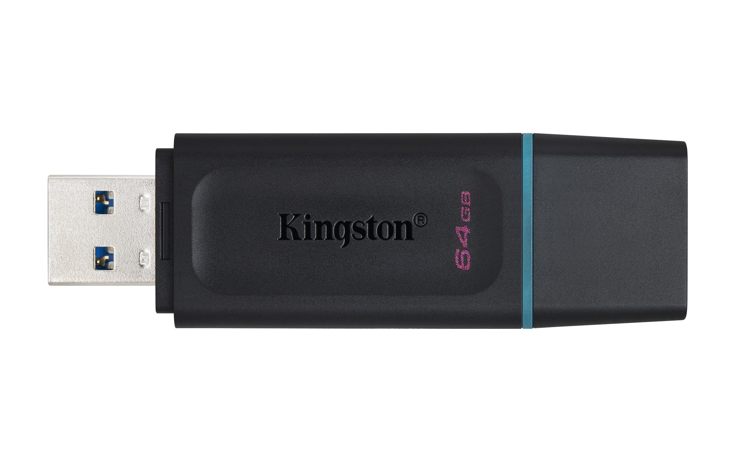 USB памет KINGSTON DataTraveler Exodia 64GB, USB 3.2 Gen 1, Черен-2