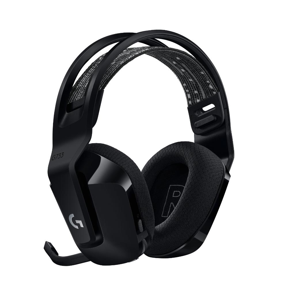 Геймърски слушалки Logitech G733 Lightspeed Wireless RGB, Микрофон, Черни-3