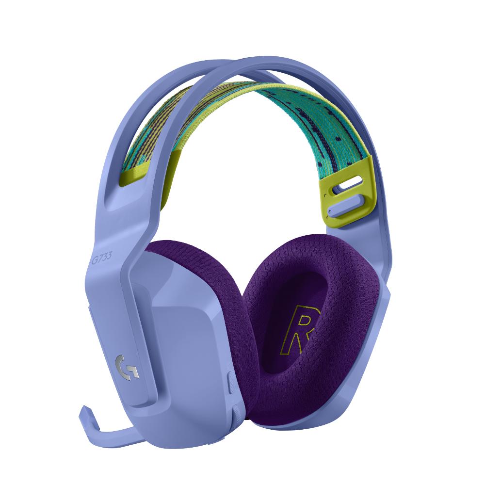 Геймърски слушалки Logitech G733 Lilac Lightspeed Wireless RGB, Микрофон, Лилави-3