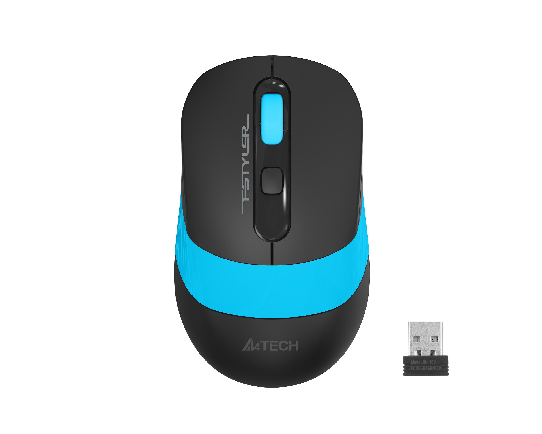 Оптична мишка A4tech FG10S Fstyler, безжична, безшумна,Син