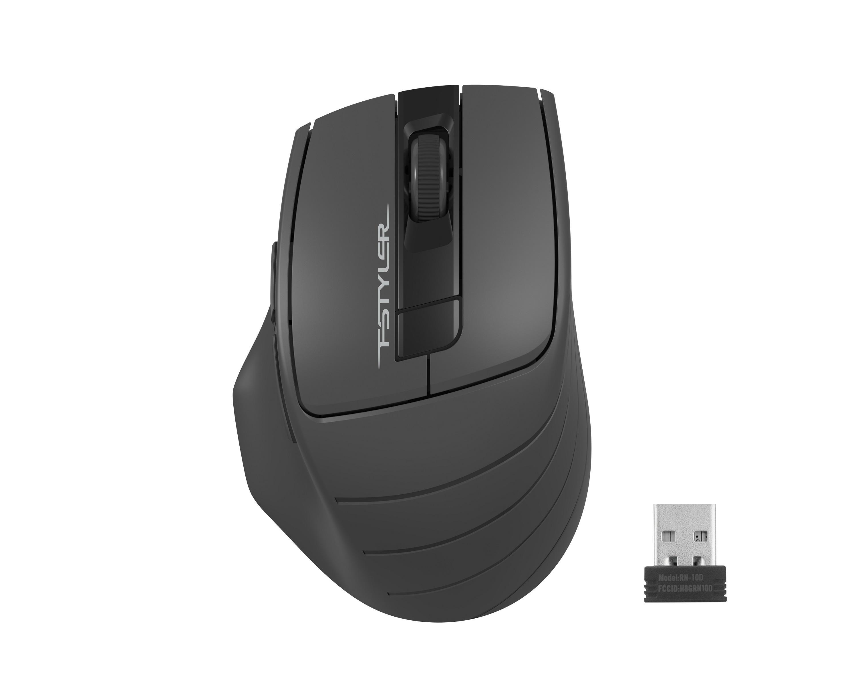 Оптична мишка A4tech FG30S Fstyler, безжична, безшумна,Сив