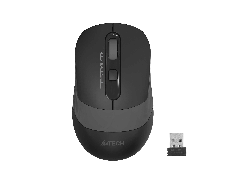 Оптична мишка A4tech FG10S Fstyler, безжична,безшумна,Сив