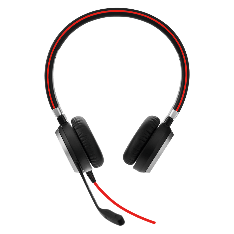 Слушалки Jabra Evolve 40 Stereo Microsoft Teams Optimized, Микрофон, Черни