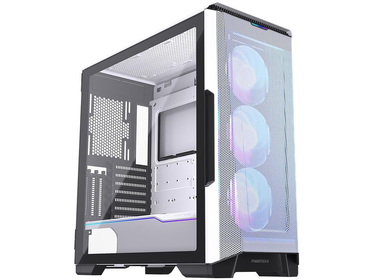Кутия Phanteks P500A TG DRGB Mid-tower, Бял