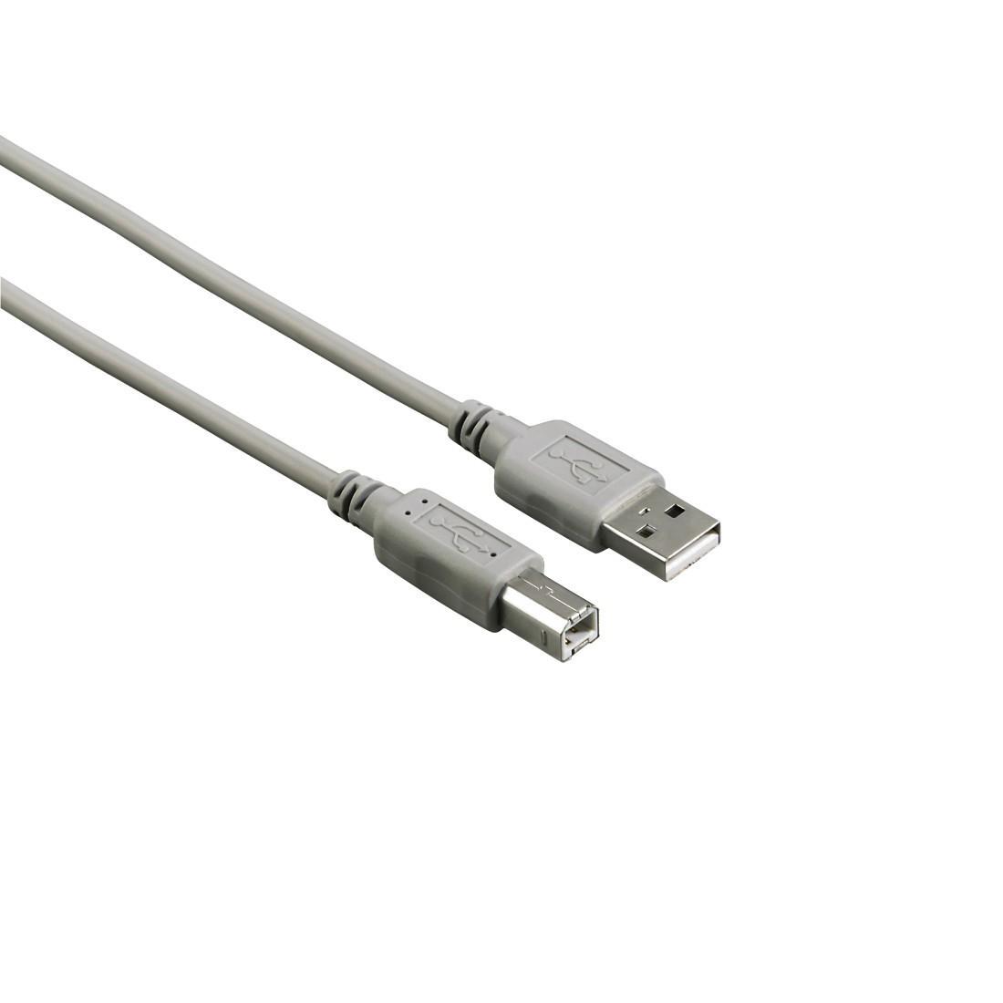 Кабел HAMA 200901 USB-A мъжко - USB-B мъжко, 3 м, булк опаковка