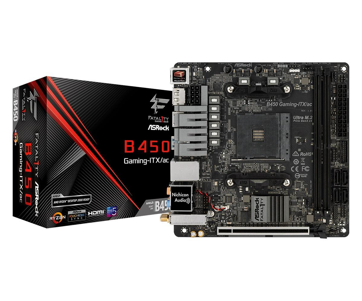 Дънна платка ASROCK Fatal1ty B450 Gaming-ITX/ac, socket AM4