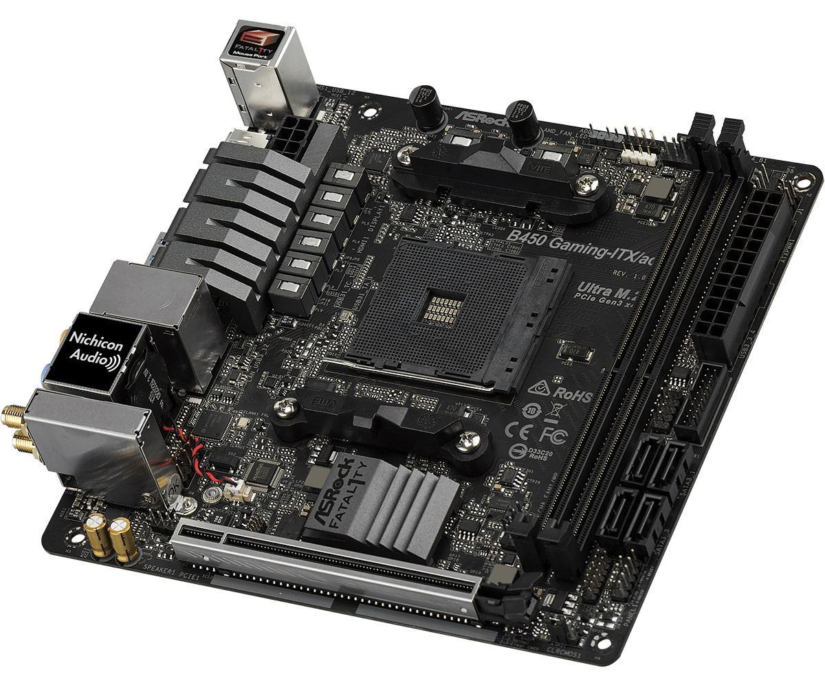 Дънна платка ASROCK Fatal1ty B450 Gaming-ITX/ac, socket AM4-2