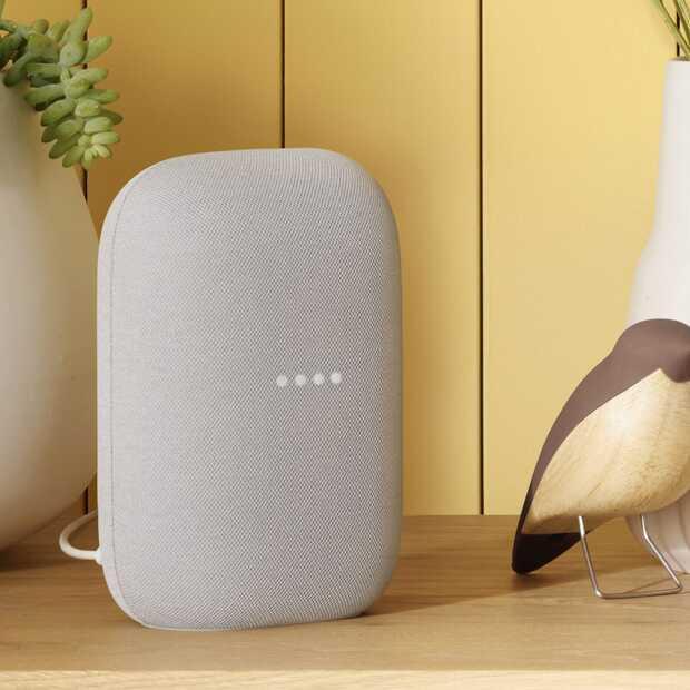 Безжична колонка Google Nest Audio, Бяла-3