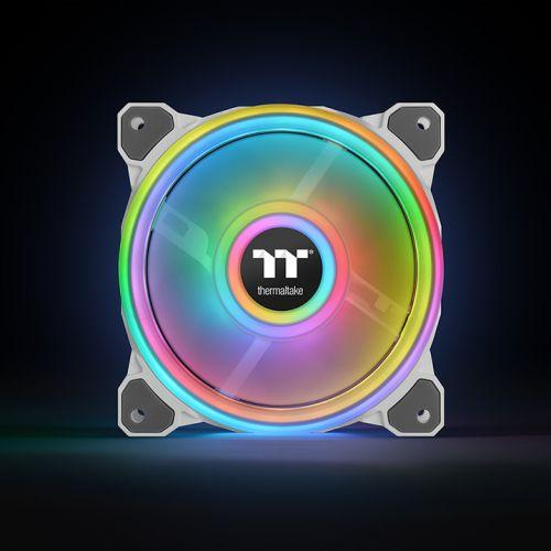 Вентилатори Thermaltake Riing Quad 14 RGB Radiator Fan TT Premium Edition 3 Броя  - Бяло с включен контролер-2