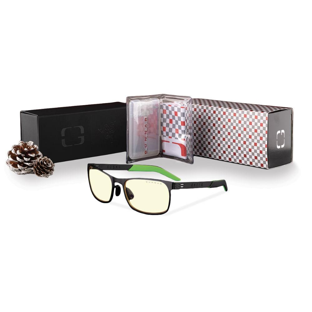 Комплект GUNNAR OPTICS Razer FPS Onyx Holiday Bundle - Очила, калъф, почистващ спрей