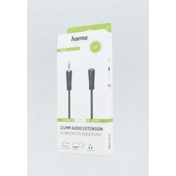 Аудио удължителен кабел HAMA 3.5мм стерео жак мъжки/женски, 3м-2