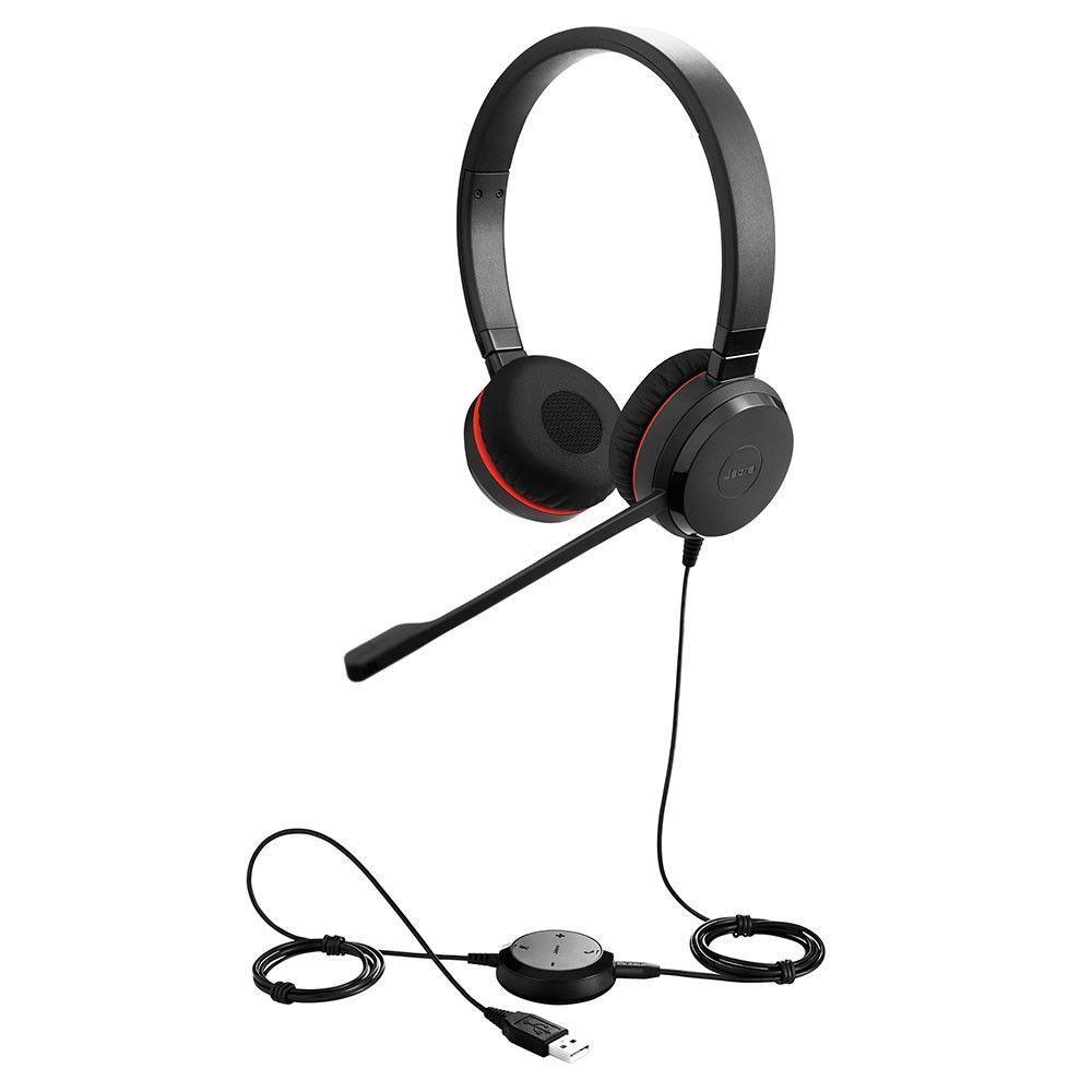 Слушалки Jabra Evolve 30 II MS, Стерео, Микрофон, Черни