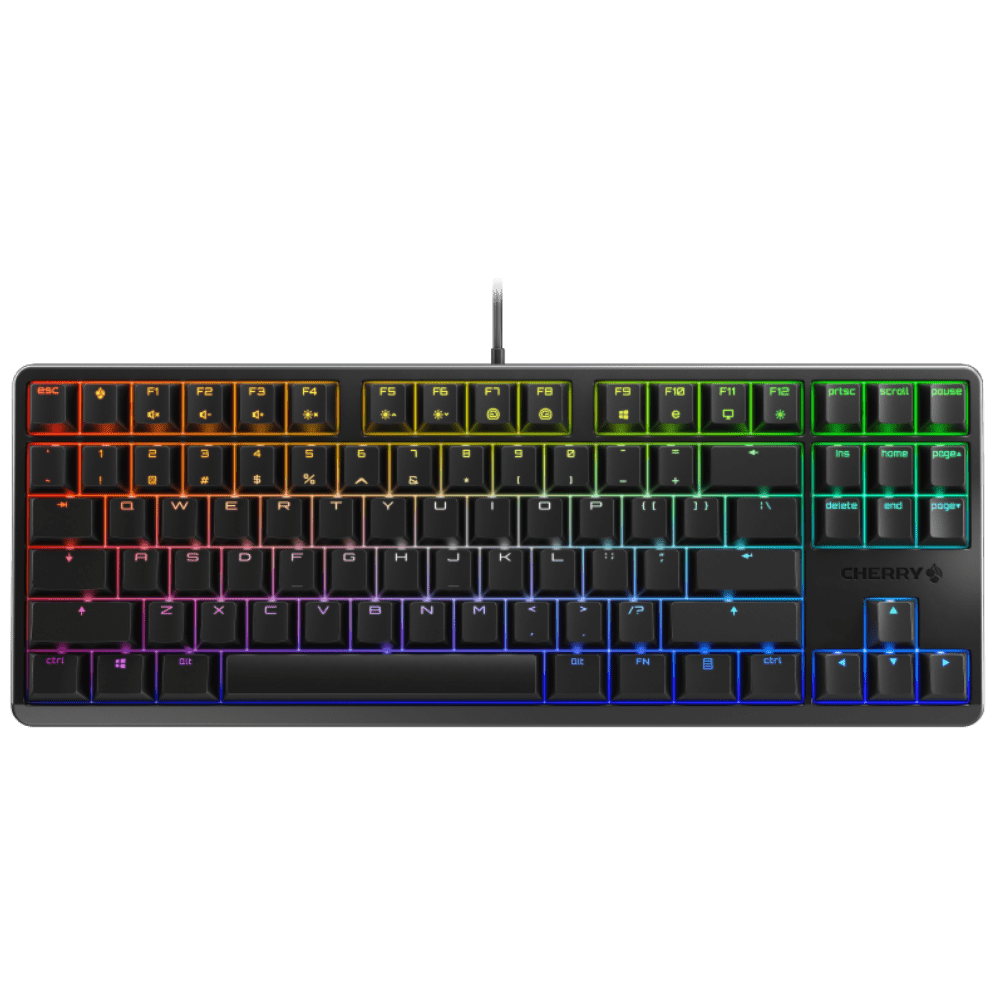 Геймърскa механична клавиатура Cherry G80-3000S TKL RGB, Cherry MX Brown