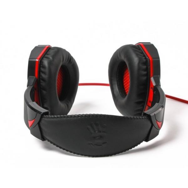 Геймърски слушалки A4TECH Bloody G500, Микрофон, Черно/Червено-2