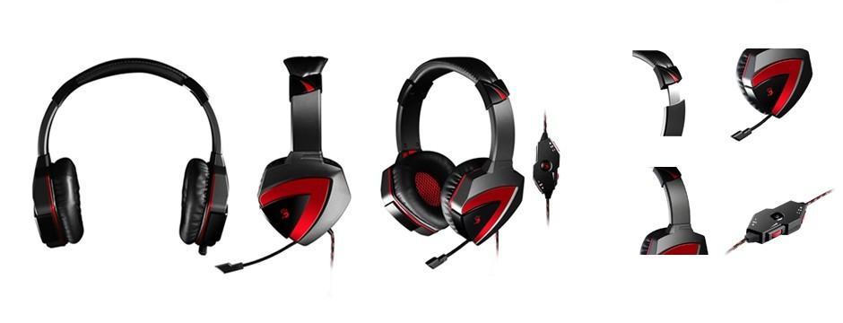 Геймърски слушалки A4TECH Bloody G501, Микрофон, Черно/Червено-2