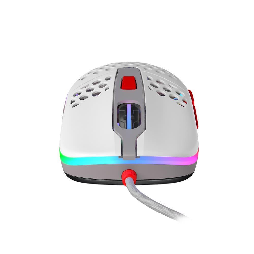 Геймърска мишка Xtrfy M42 Retro, RGB, Бял/Сив/Червен-3