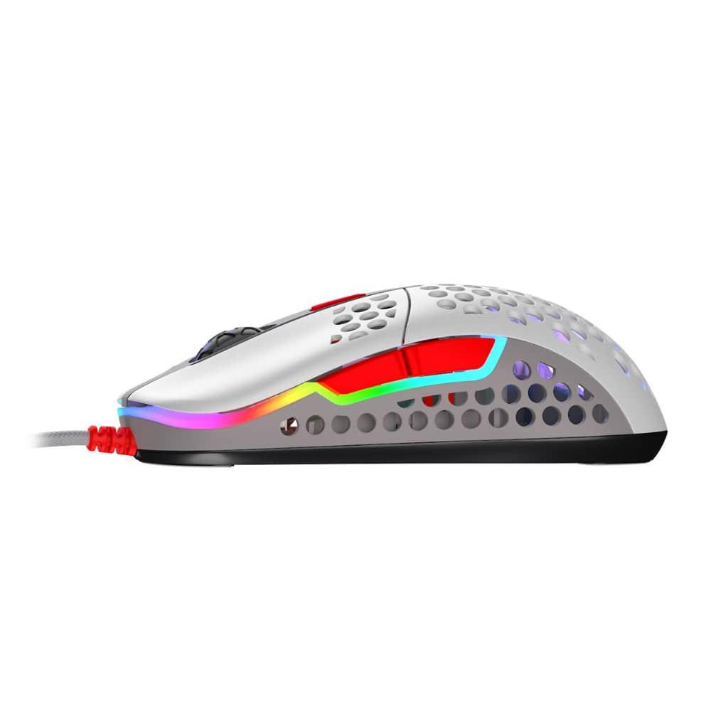 Геймърска мишка Xtrfy M42 Retro, RGB, Бял/Сив/Червен-4