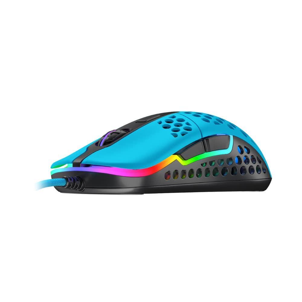 Геймърска мишка Xtrfy M42 Miami Blue, RGB, Син