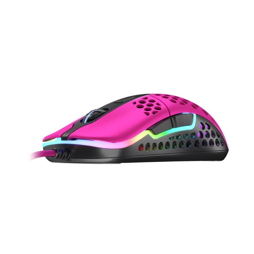Геймърска мишка Xtrfy M42 Pink, RGB, Розов