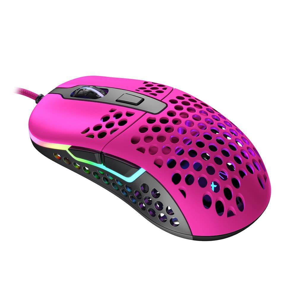 Геймърска мишка Xtrfy M42 Pink, RGB, Розов-2