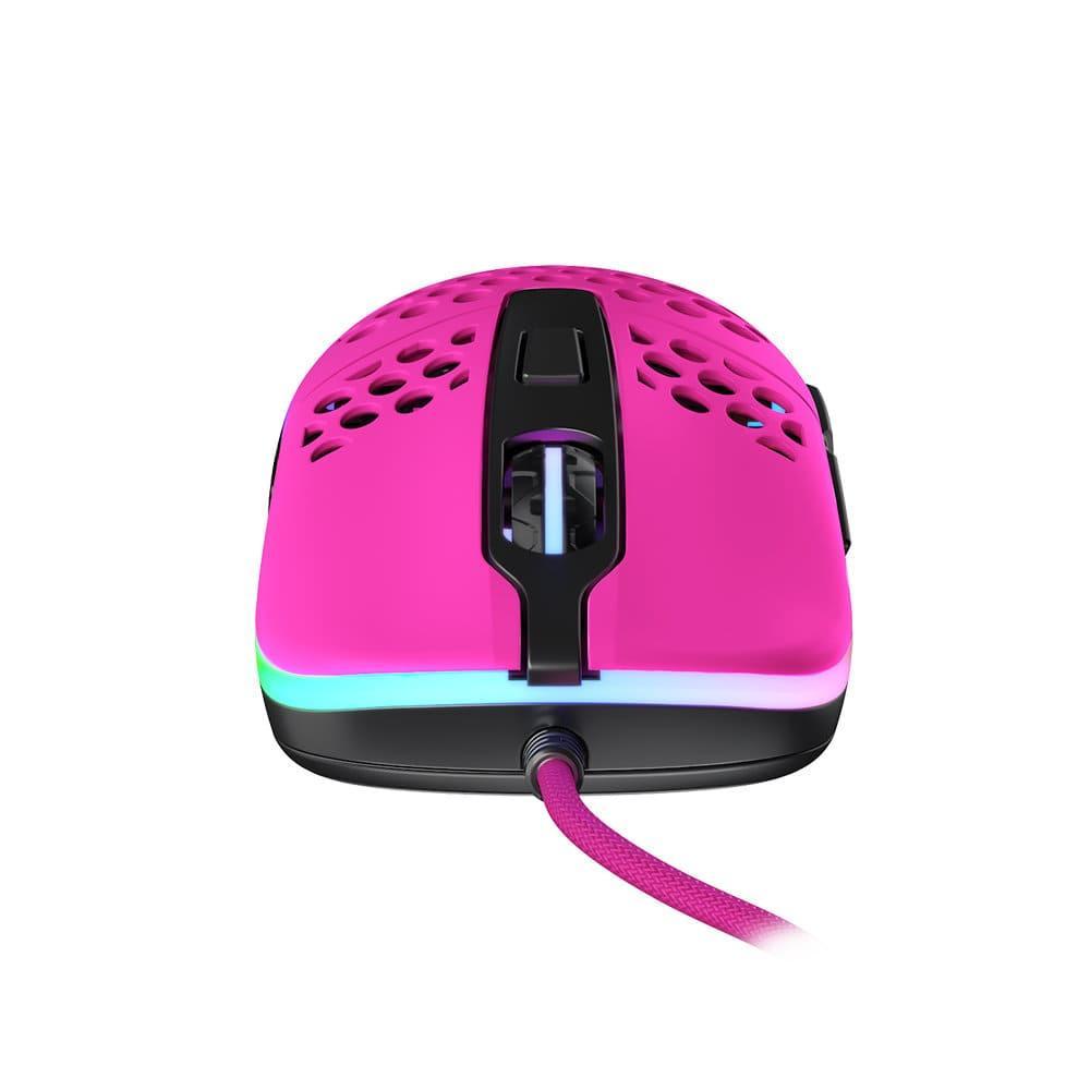 Геймърска мишка Xtrfy M42 Pink, RGB, Розов-3