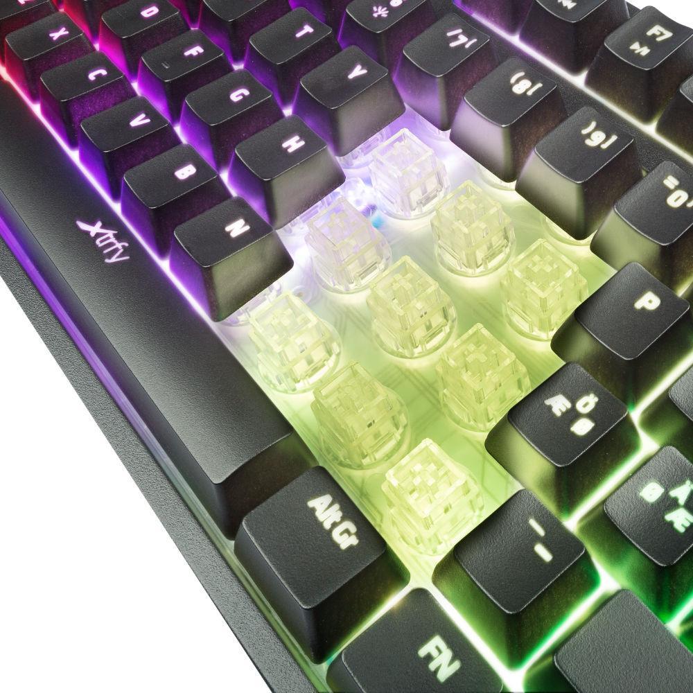 Геймърскa полу-механична клавиатура Xtrfy K3 RGB, US Layout-3