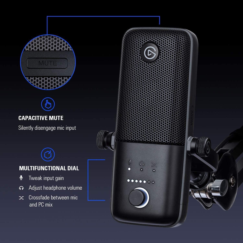 Настолен микрофон Elgato Wave 3-3