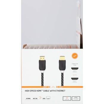 Кабел HAMA 205444, HDMI мъжко - HDMI мъжко, Ethernet, 1.5 м, Позлатени конектори, Черен-2