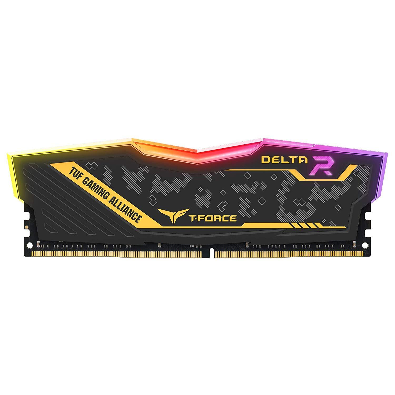 Памет Team Group Delta RGB TUF DDR4 - 16GB 3200MHz, CL16-18-18-38, 1.35V