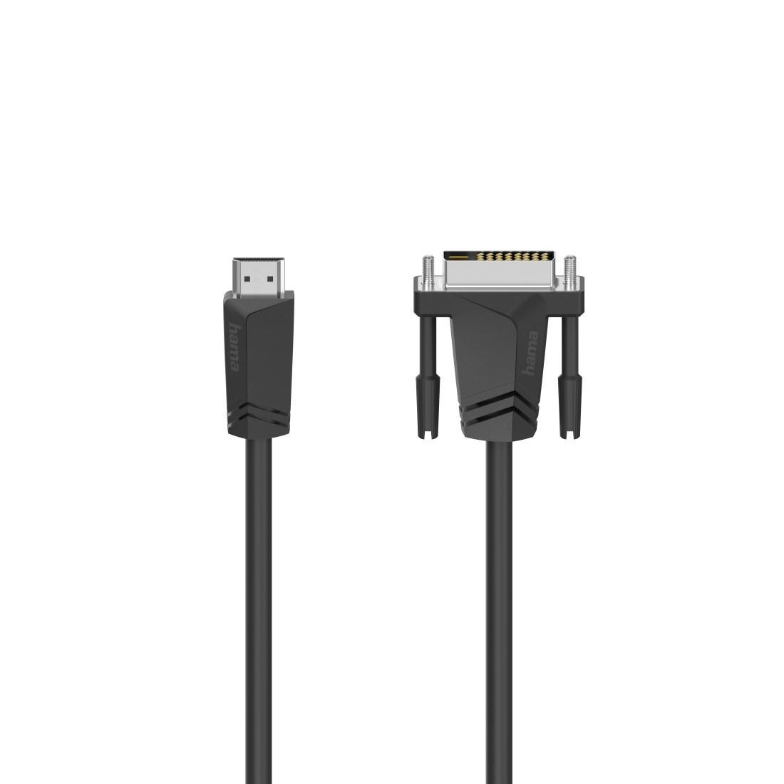 Кабел HAMA 205018 HDMI мъжко - DVI/D мъжко, 1.5 м, екраниран