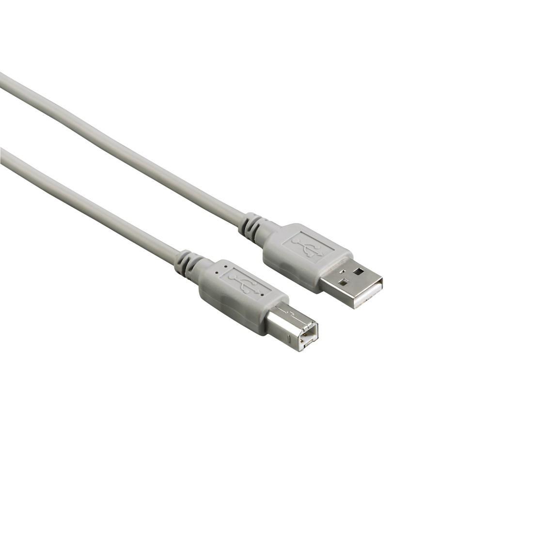 Кабел HAMA 200902 USB-A мъжко - USB-B мъжко, 5 м, Стандарт