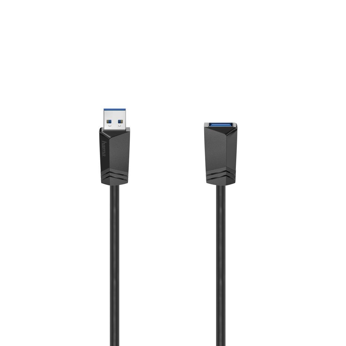 Удължителен кабел HAMA 200628 USB-A мъжко - USB-А женско,1.5 м, екраниран