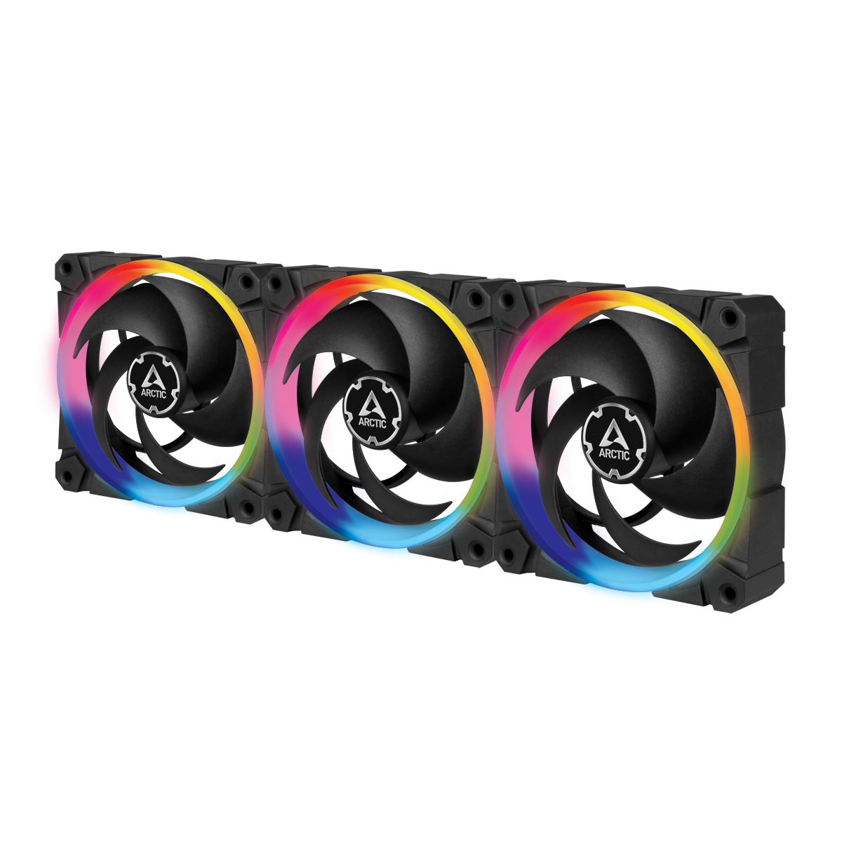 Вентилатори ARCTIC BioniX P120 A-RGB Black 120mm 3 Броя - с включен контролер