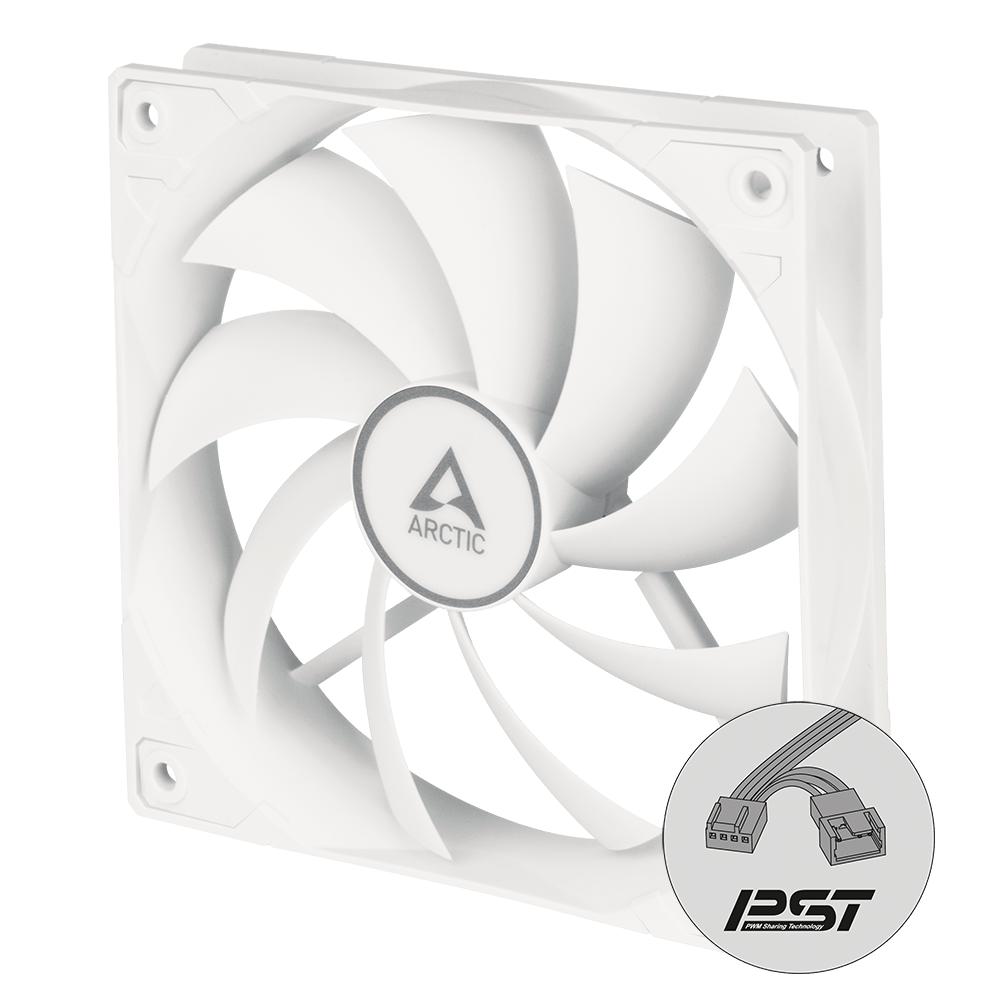 Вентилатор ARCTIC F12 PWM PST, Бял-2