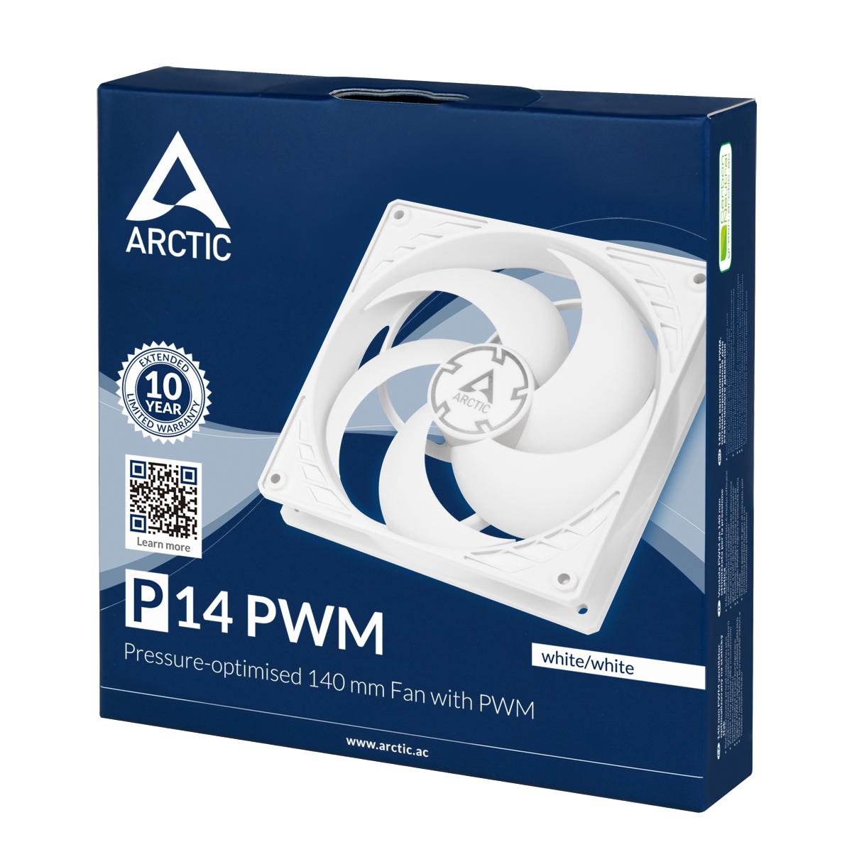 Вентилатор ARCTIC P14 PWM White/White-4
