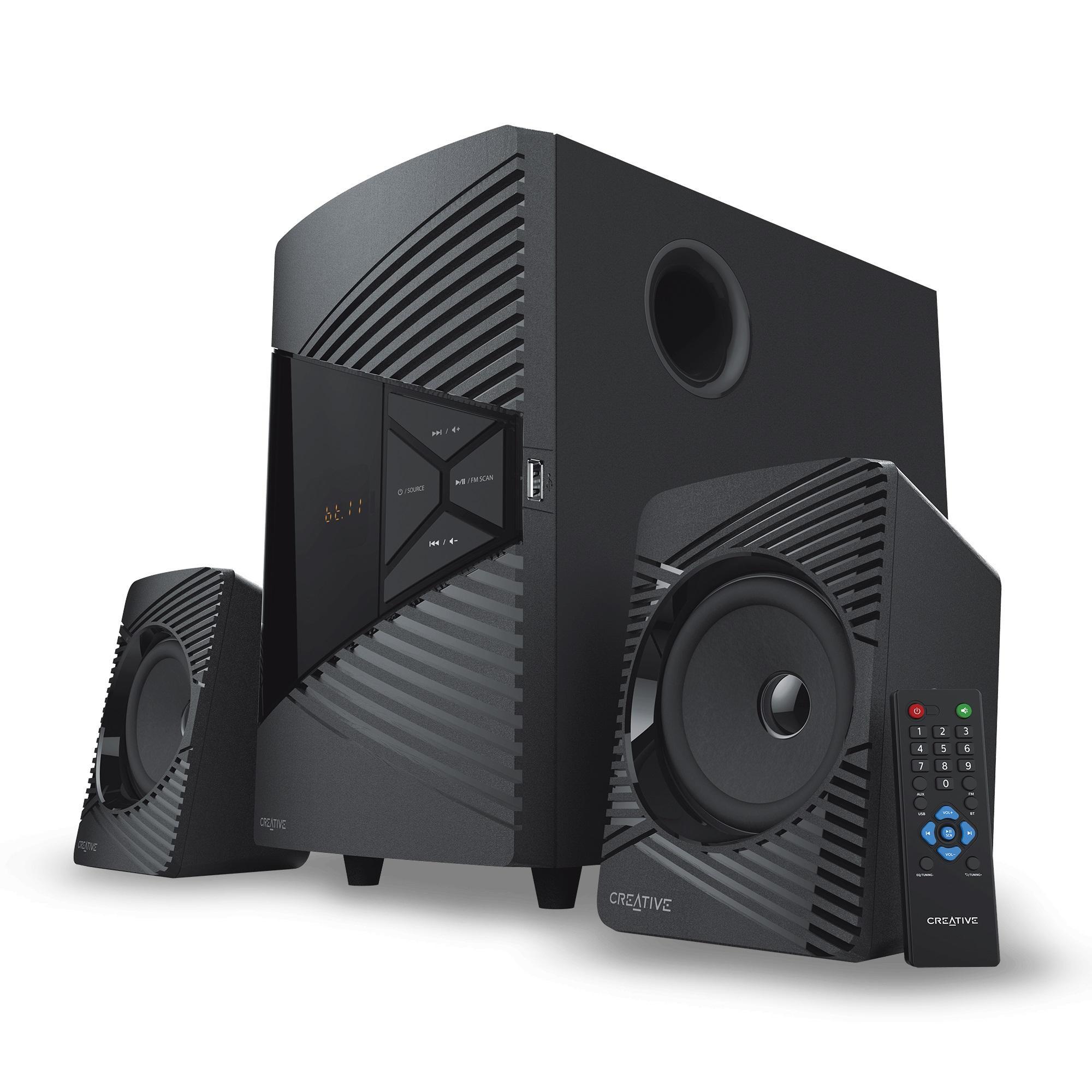 Озвучителна система Creative SBS E2500, 2.1, Bluetooth говорители, Черен